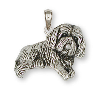 Lhasa Apso Pendant Handmade Sterling Silver Dog Jewelry LSZ17-P