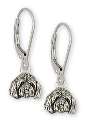 Lhasa Apso Earrings Handmade Sterling Silver Dog Jewelry LSZ18-HE