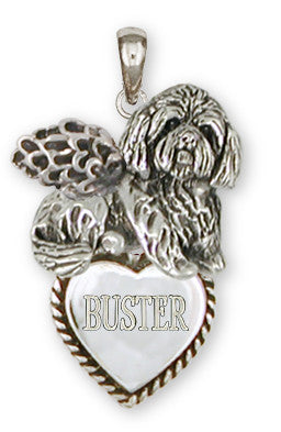 Lhasa Apso Personalized Pendant Handmade Sterling Silver Dog Jewelry LSZ18A-TP