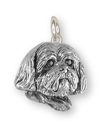 Lhasa Apso Charm Handmade Sterling Silver Dog Jewelry LSZ19H-C