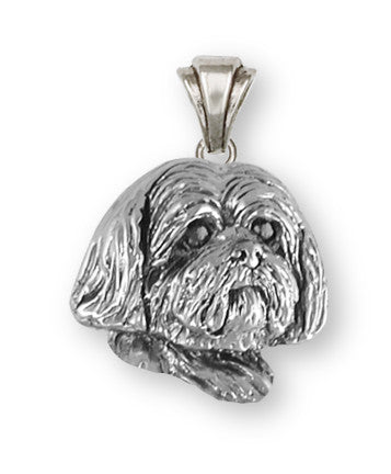 Lhasa Apso Pendant Handmade Sterling Silver Dog Jewelry LSZ19H-P