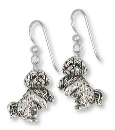 Lhasa Apso Earrings Handmade Sterling Silver Dog Jewelry LSZ20-E