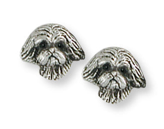Lhasa Apso Earrings Handmade Sterling Silver Dog Jewelry LSZ22H-E