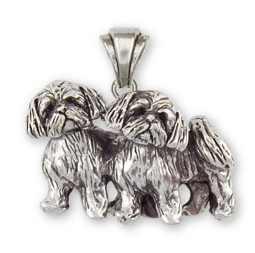 Lhasa Apso Pendant Handmade Sterling Silver Dog Jewelry LSZ24-P