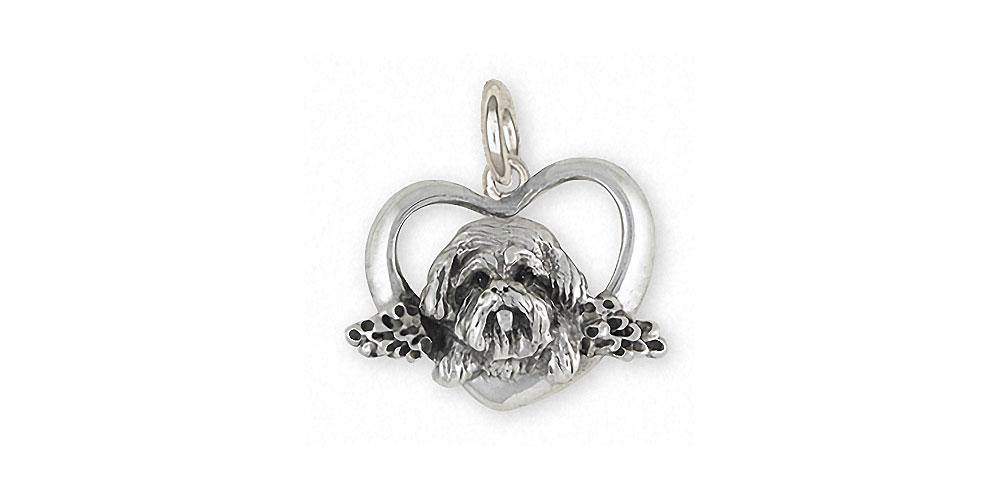 Lhasa Apso Charms Lhasa Apso Charm Sterling Silver Dog Jewelry Lhasa Apso jewelry