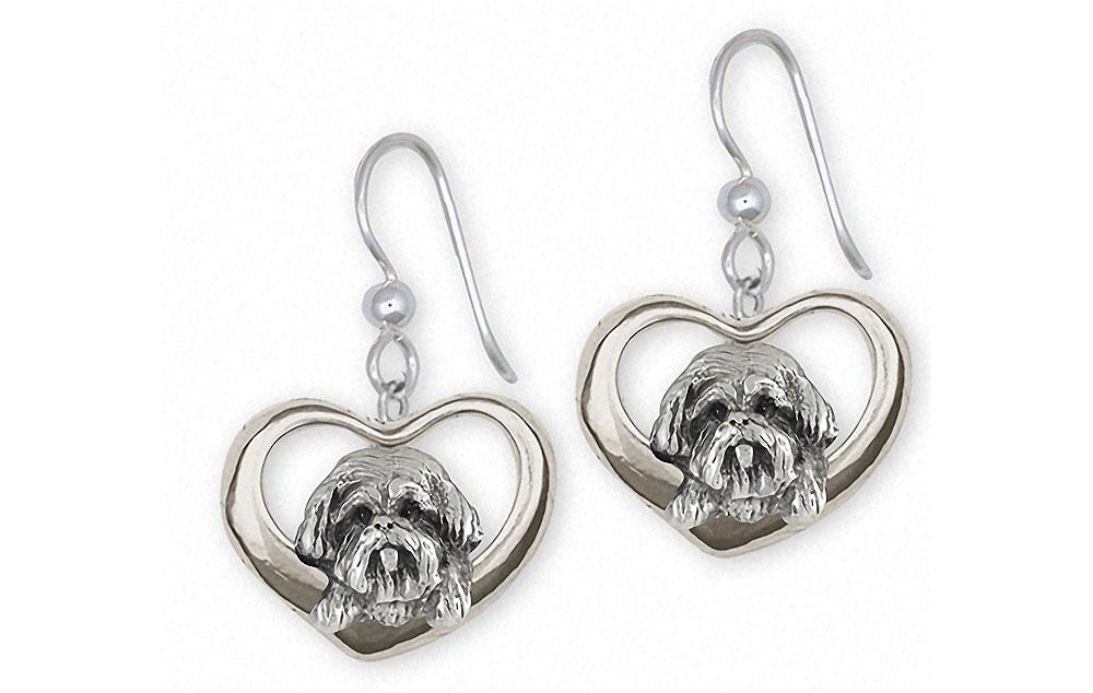 Lhasa Apso Charms Lhasa Apso Earrings Sterling Silver Dog Jewelry Lhasa Apso jewelry