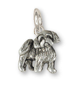 Lhasa Apso Charm Handmade Sterling Silver Dog Jewelry LSZ27-C