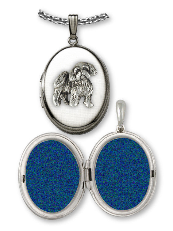 Lhasa Apso Charms Lhasa Apso Photo Locket Sterling Silver Dog Jewelry Lhasa Apso jewelry