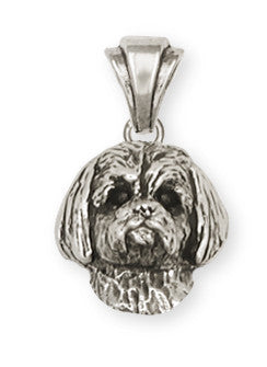 Lhasa Apso Pendant Handmade Sterling Silver Dog Jewelry LSZ4-P