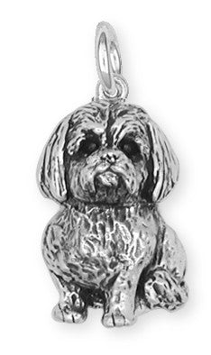 Lhasa Apso Charm Handmade Sterling Silver Dog Jewelry LSZ5-C