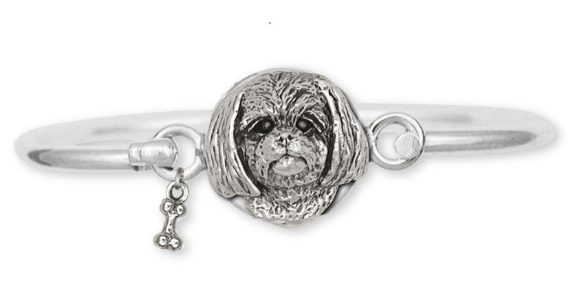 Lhasa Apso Bracelet Handmade Sterling Silver Dog Jewelry LSZ6-HB