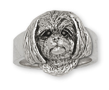 Lhasa Apso Ring Handmade Sterling Silver Dog Jewelry LSZ6-R