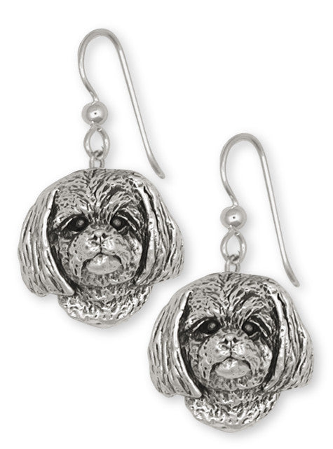 Lhasa Apso Earrings Handmade Sterling Silver Dog Jewelry LSZ8-E