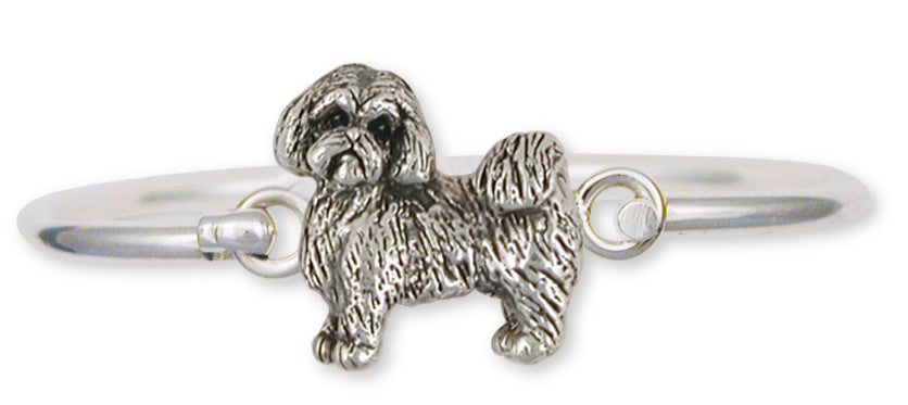 Lhasa Apso Bracelet Handmade Sterling Silver Dog Jewelry LSZ8-HB