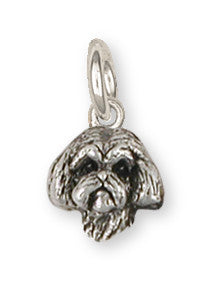 Lhasa Apso Charm Handmade Sterling Silver Dog Jewelry LSZ8-HC