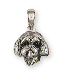 Lhasa Apso Pendant Handmade Sterling Silver Dog Jewelry LSZ8-HP
