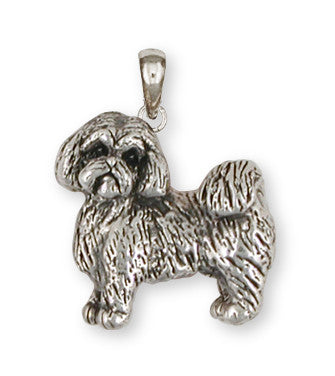 Lhasa Apso Pendant Handmade Sterling Silver Dog Jewelry LSZ8-P