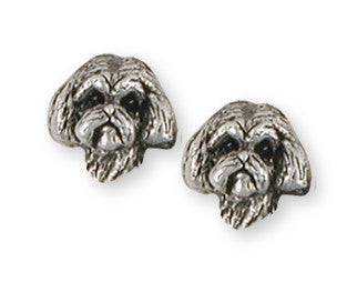 Lhasa Apso Earrings Handmade Sterling Silver Dog Jewelry LSZ8H-E