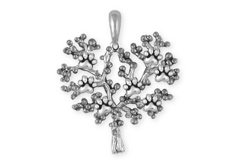 Paw Tree Of Life Charms Paw Tree Of Life Pendant Sterling Silver Dog Jewelry Paw Tree Of Life jewelry