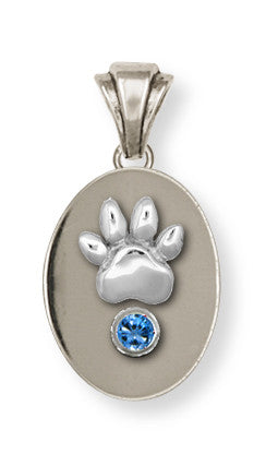 Pet Memorial Rainbow Bridge Pendant Jewelry Handmade Sterling Silver M13-P
