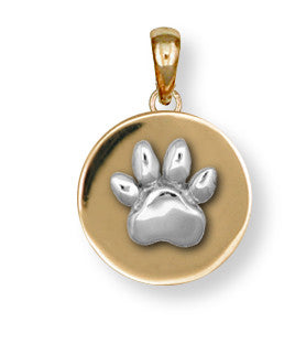 Pet Memorial Rainbow Bridge Pendant Jewelry Handmade 14k Gold M2-PG