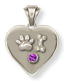 Pet Memorial Rainbow Bridge Pendant Jewelry Handmade Sterling Silver M23-P