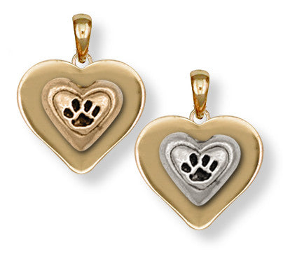Pet Memorial Rainbow Bridge Pendant Jewelry Handmade 14k Gold M24-PG