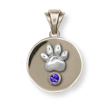 Pet Memorial Rainbow Bridge Pendant Jewelry Handmade Sterling Silver M7-P