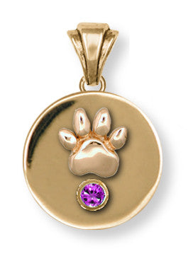 Pet Memorial Rainbow Bridge Pendant Jewelry Handmade 14k Gold M7-PG