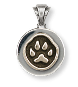 Dog Paw Pendant Jewelry Sterling Silver Handmade Dog Pendant PWT-P