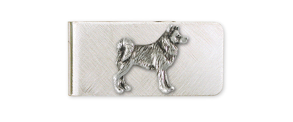 Alaskan Malamute Charms Alaskan Malamute Money Clip Sterling Silver Dog Jewelry Alaskan Malamute jewelry