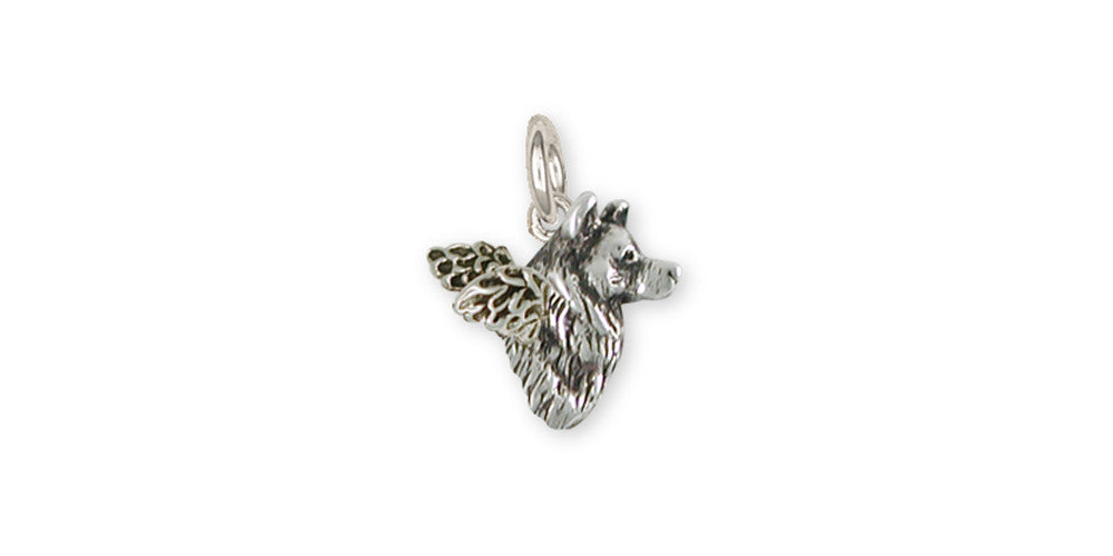 Alaskan Malamute Angel Charms Alaskan Malamute Angel Charm Sterling Silver Dog Jewelry Alaskan Malamute Angel jewelry