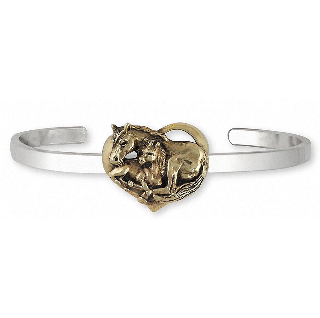 Horse Charms Horse Bracelet Silver And 14k Gold Horse Jewelry Horse jewelry