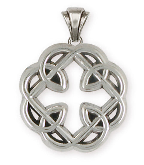 Celtic Knot Father And Daughter Cross Pendant Jewelry Handmade Sterling Silver MFC-P