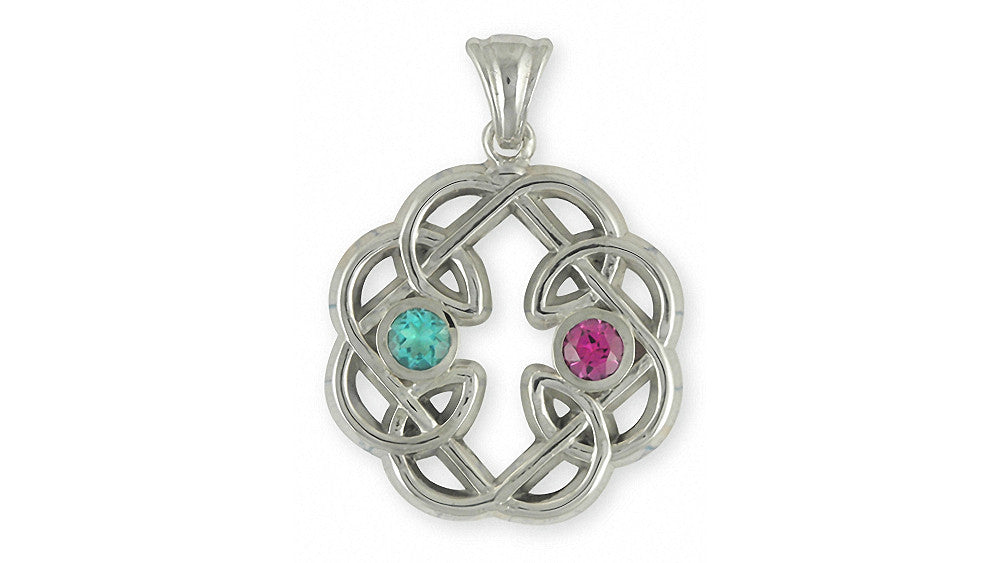 Celtic Knot Father And Daughter Charms Celtic Knot Father And Daughter Pendant Sterling Silver Celtic Jewelry Celtic Knot Father And Daughter jewelry