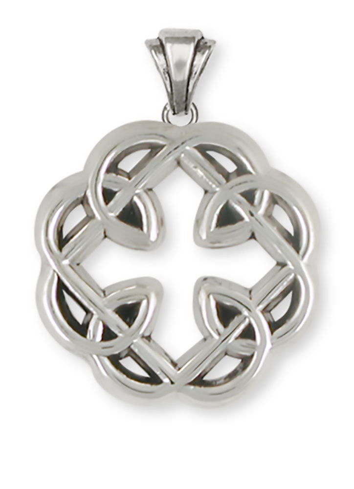 Celtic Knot Father And Daughter Cross Pendant Jewelry Handmade Sterling Silver MFC1-P