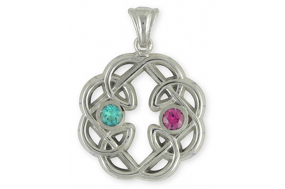 amethyst pendant silver products claddagh celtic necklace irish jewelry