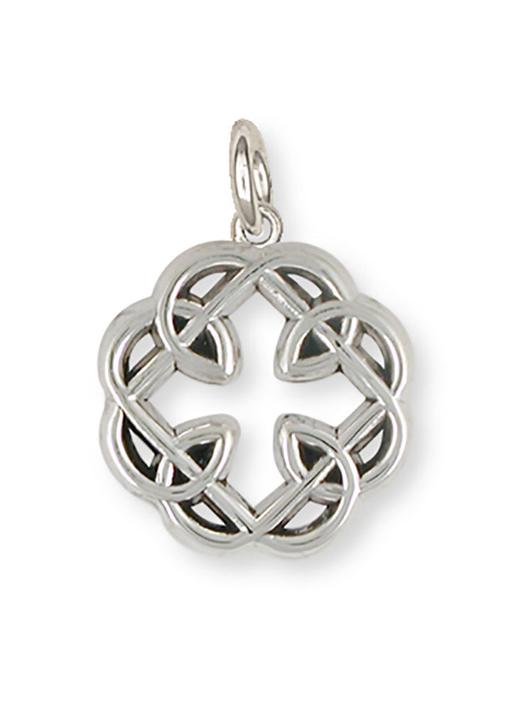 Celtic Knot Father And Daughter Cross Charm Jewelry Handmade Sterling Silver MFC2-C