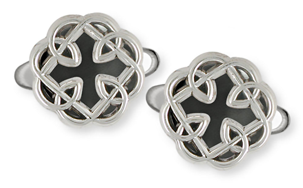 Celtic Knot Father And Daughter Cross Cuff Links Jewelry  Silver MFC2-CL