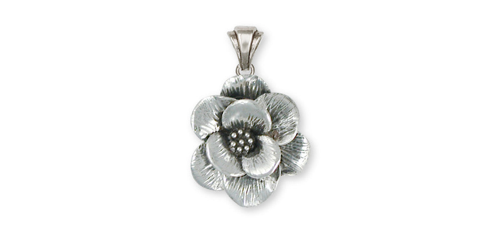 Magnolia flower pendant sterling silver esquivel and fees magnolia charms magnolia pendant sterling silver flower jewelry magnolia jewelry aloadofball Choice Image