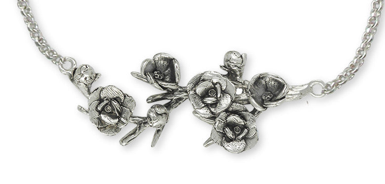 Magnolia Charms Magnolia Necklace Sterling Silver Flower Jewelry Magnolia jewelry