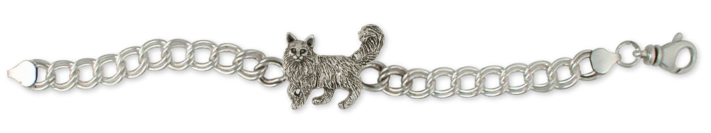 Maine Coon Charms Maine Coon Bracelet Handmade Sterling Silver Cat Jewelry Maine Coon jewelry