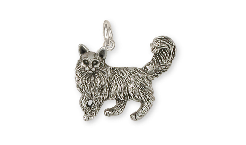 Maine Coon Charms Maine Coon Charm Handmade Sterling Silver Cat Jewelry Maine Coon jewelry