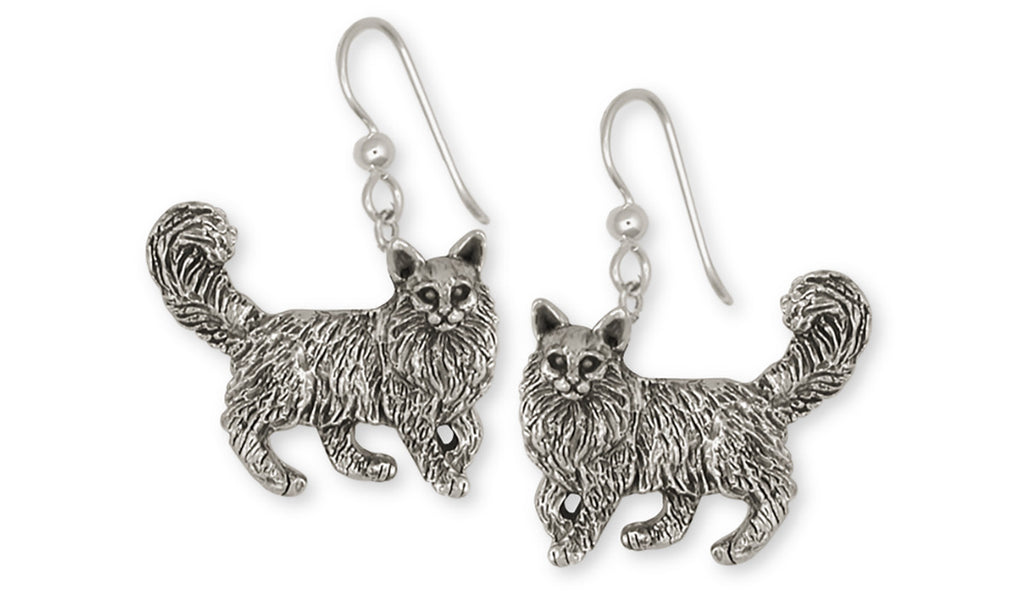 Maine Coon Charms Maine Coon Earrings Handmade Sterling Silver Cat Jewelry Maine Coon jewelry