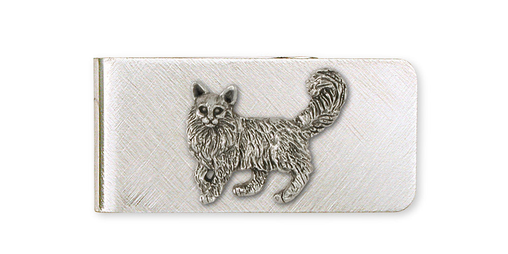 Maine Coon Charms Maine Coon Money Clip Handmade Sterling Silver Cat Jewelry Maine Coon jewelry