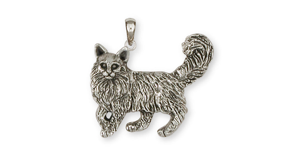 Maine Coon Charms Maine Coon Pendant Handmade Sterling Silver Cat Jewelry Maine Coon jewelry