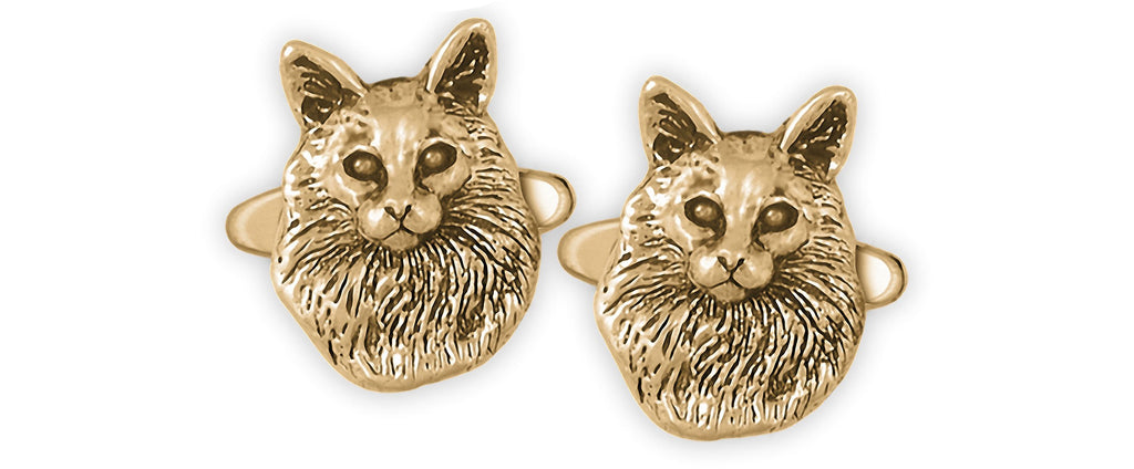 Maine Coon Charms Maine Coon Cufflinks 14k Gold Vermeil Maine Coon Jewelry Maine Coon jewelry