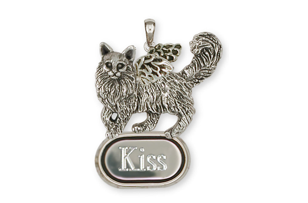 Maine Coon Angel Charms Maine Coon Angel Personalized Pendant Handmade Sterling Silver Cat Jewelry Maine Coon Angel jewelry