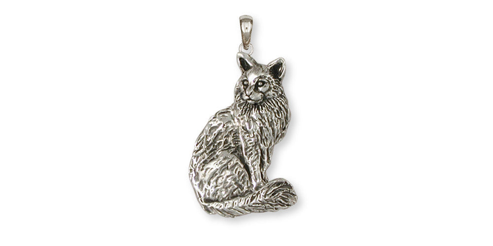 Maine Coon Cat Charms Maine Coon Cat Pendant Handmade Sterling Silver Cat Jewelry Maine Coon Cat jewelry