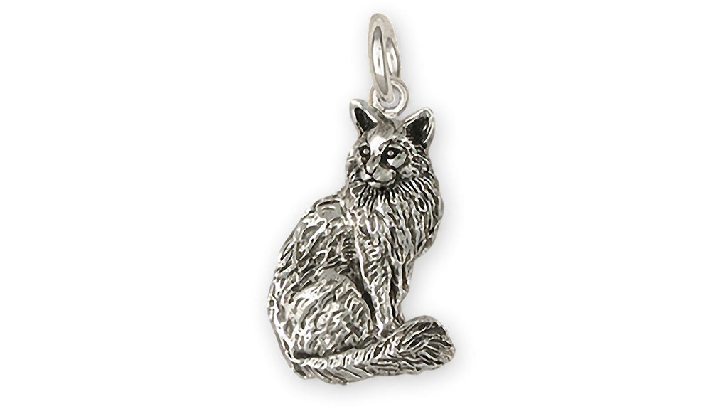 Maine Coon Charms Maine Coon Charm Sterling Silver Maine Coon Jewelry Maine Coon jewelry